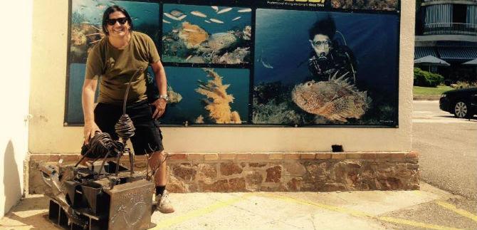 Escultor caleño expone su obra en España