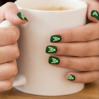 Green Awareness Ribbon Custom Nail Wrap Art Minx® Nail Wraps