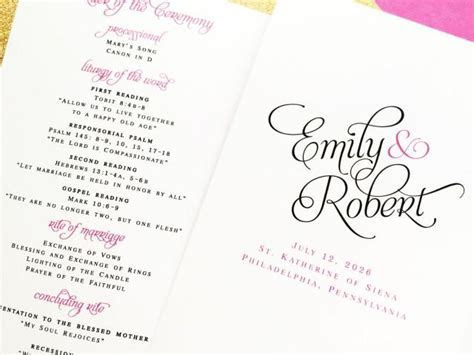 Wedding Programs, Bifold Folded Wedding Programs, Wedding