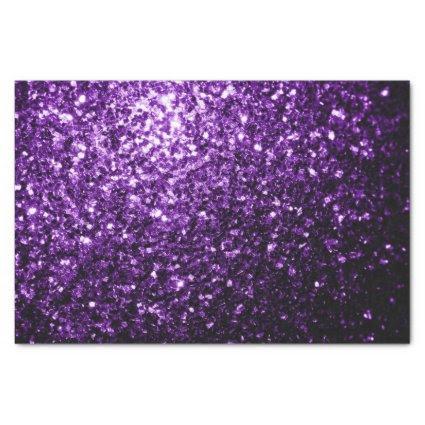"Beautiful Purple glitter sparkles 10"" X 15"" Tissue Paper"
