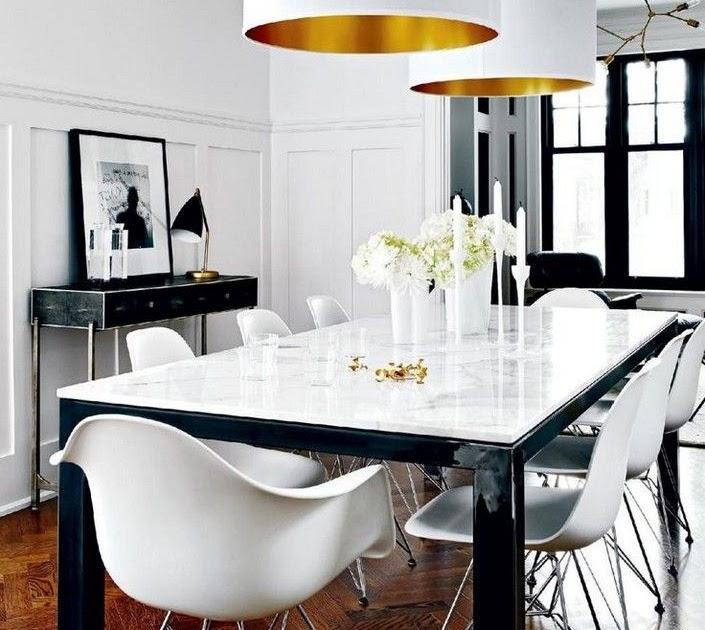 30 Black White Living Rooms That Work Their Monochrome Magic: White Dining Room Decor Ideas