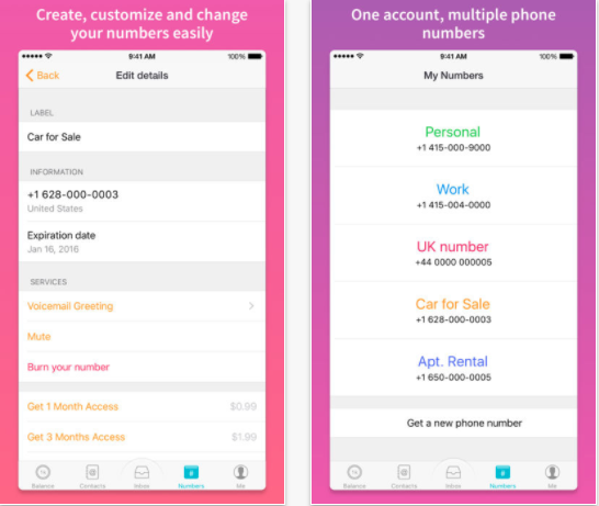 25 Android and iPhone Second Phone Number Apps for Business Only Calls - TextMe Up