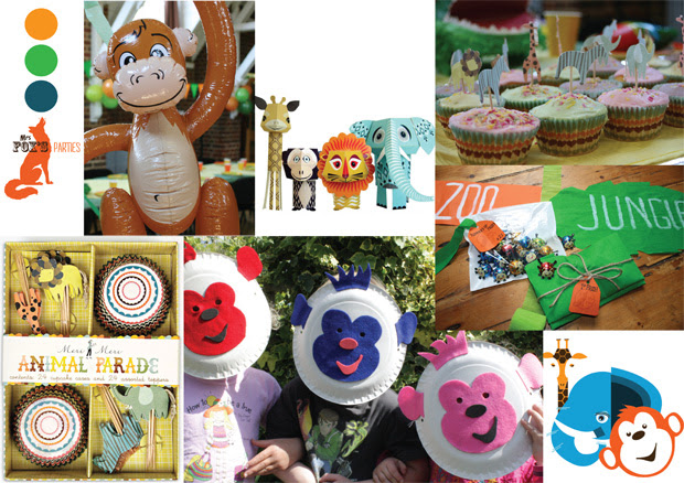 Mrs Fox's Party Boxes, A Party in the Jungle