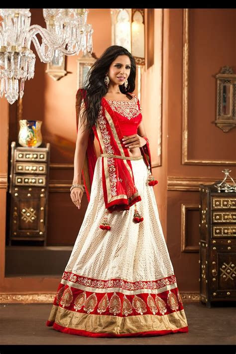 red and white with gold trim and hanging accessories