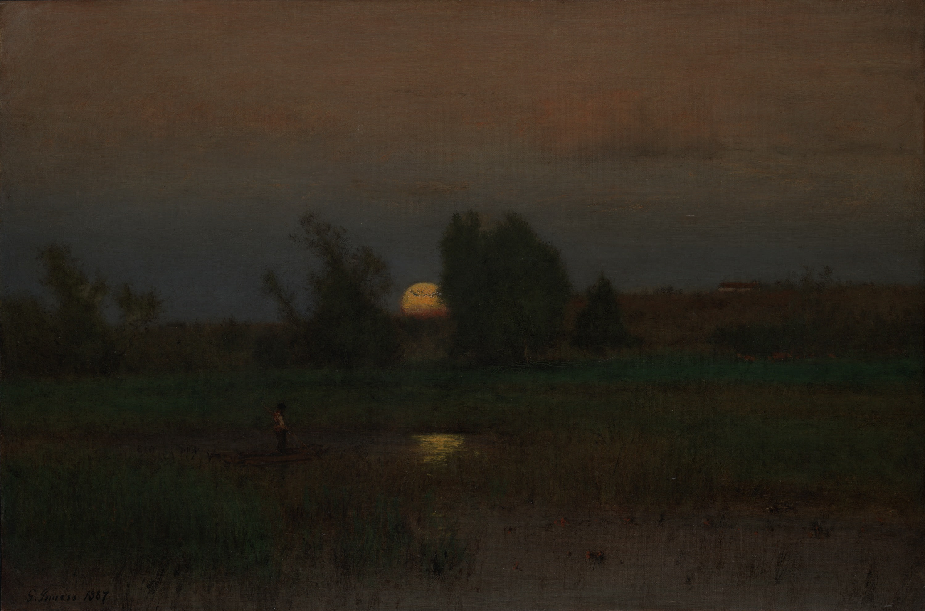 Moonrise by George Inness 1887