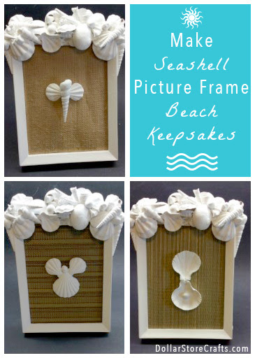 Tutorial Sea Shell Picture Frame Dollar Store Crafts