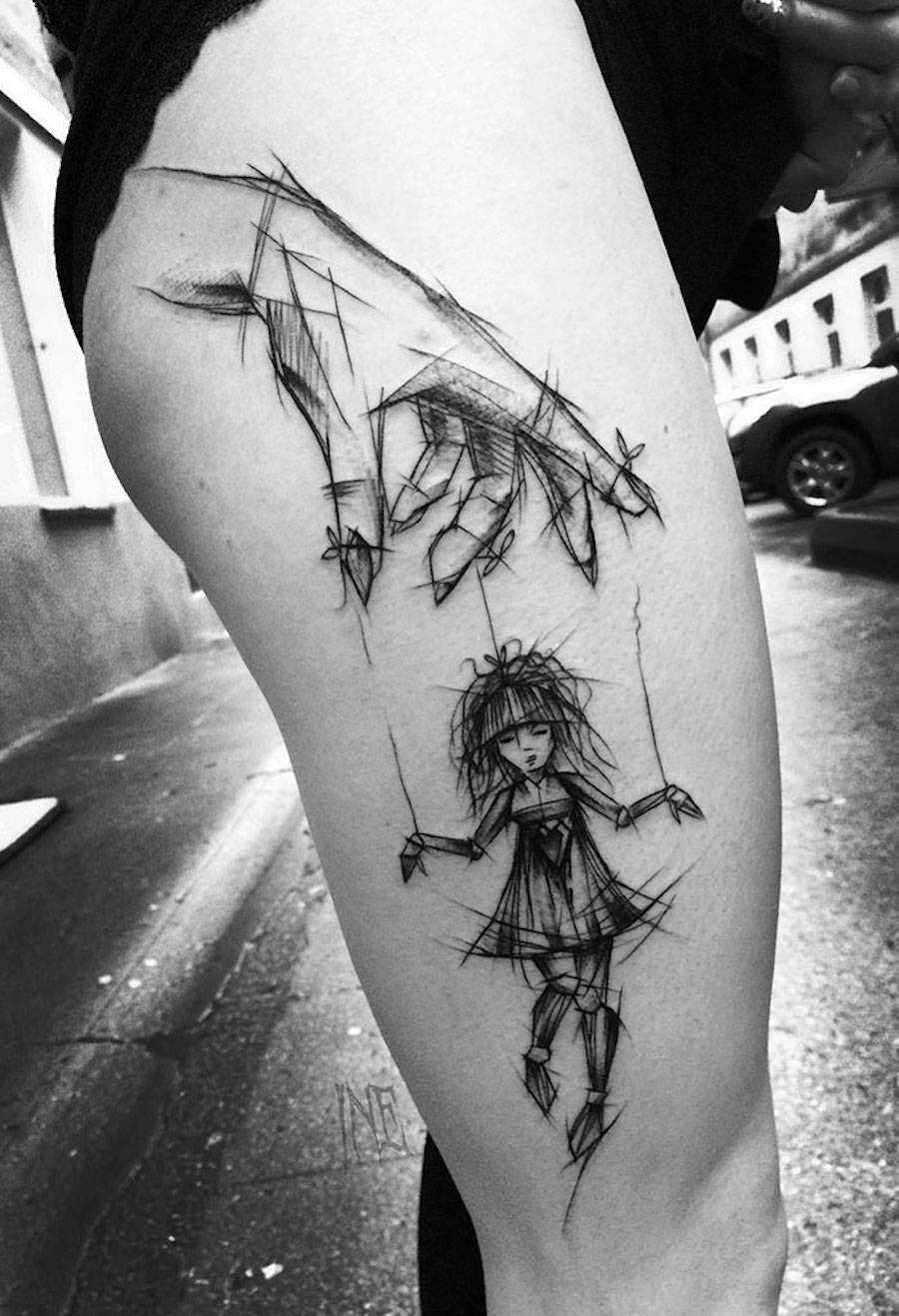 Impressive Black And White Sketch Tattoos 5 Fubiz Media