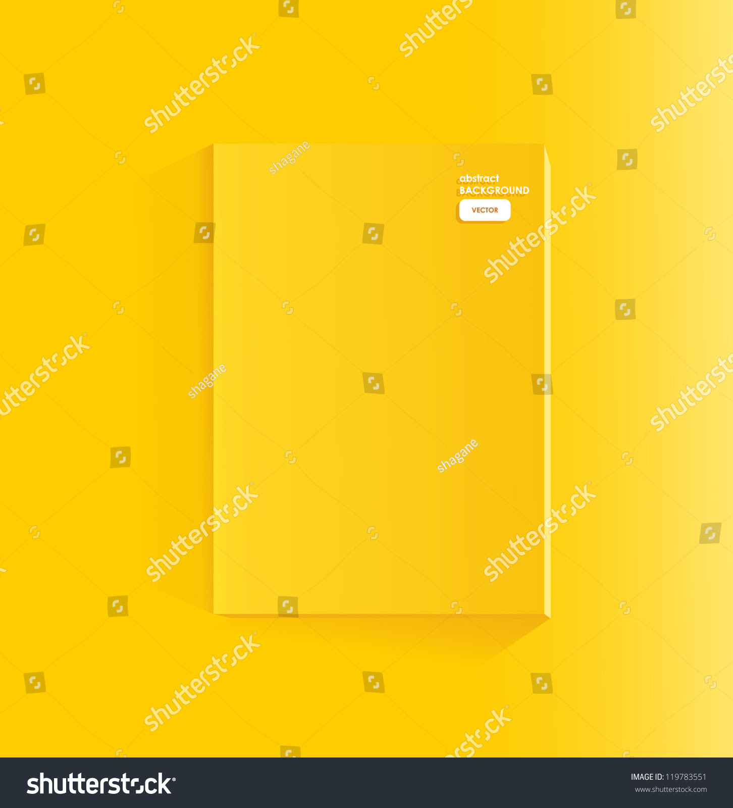 Blank Yellow Page Of Magazine Stock Vector Illustration 119783551 ...