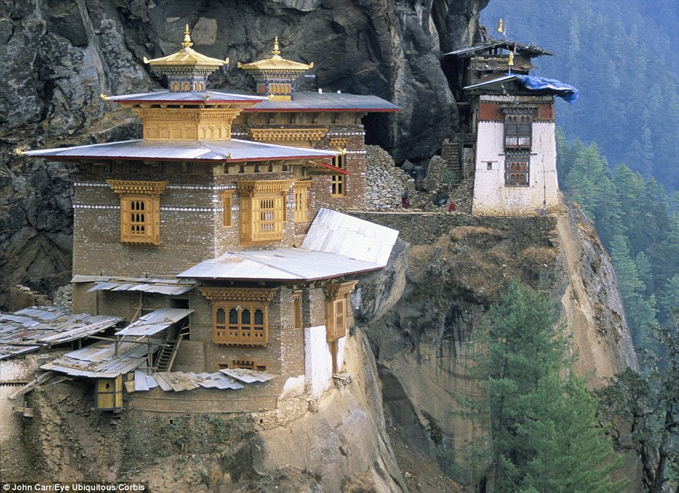 Complete isolation: According to legend, the Tiger's Nest takes its name from the 'second Buddha', Precious Guru Padmasambhava, who travelled to the site on a tiger