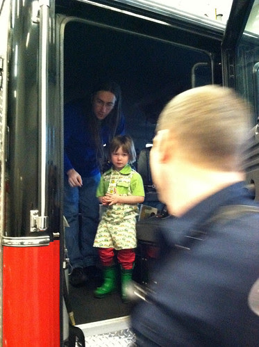 Checking out the fire truck
