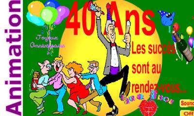 Carte Bon Anniversaire 40 Ans A Imprimer Wizzyloremaria