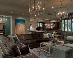 Living Room Brown on Pinterest