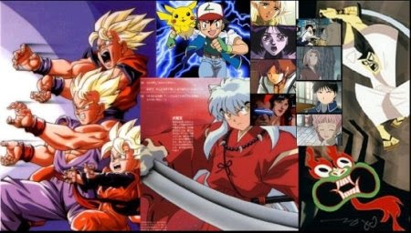 Collage of Japanese Anime