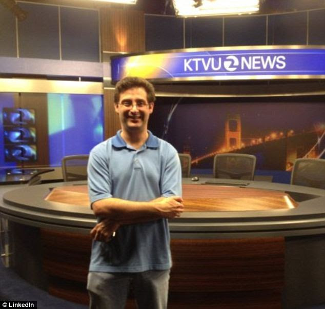 'Oh ***t' KTVU producer Brad Belstock, pictured, tweeted these two words yesterday after the humiliating broadcast went out