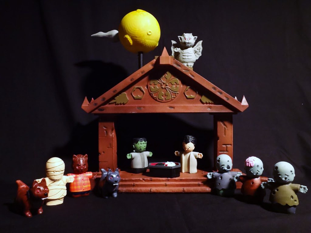 The First Halloween Nativity Set