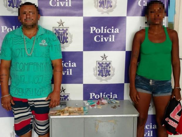 Casal usava residência para vender drogas e é preso na Bahia, diz polícia (Foto: Divulgação/ Polícia Civil)