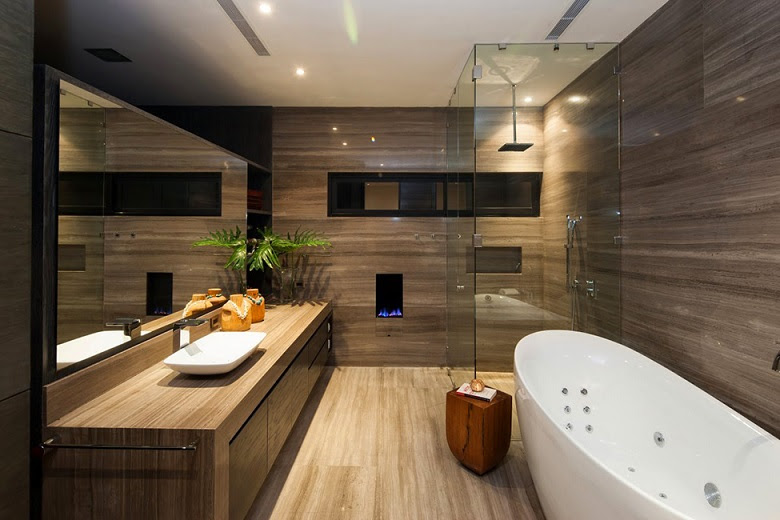 Home Architec Ideas Bathroom Design Brown