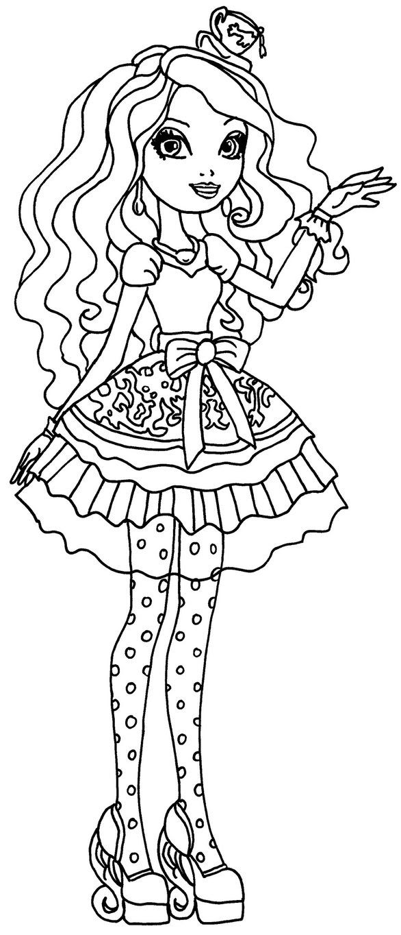 Ever After High Madeline Hatter Coloring Pages At Getdrawingscom