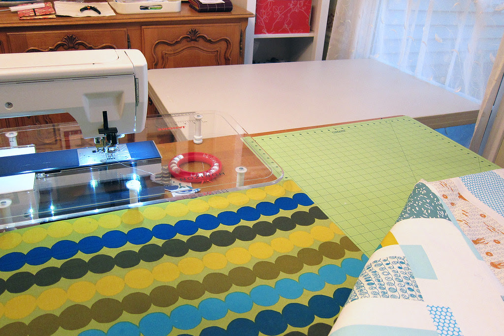 Quilting area all set