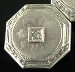 Art Deco diamond cufflinks. (J9162)