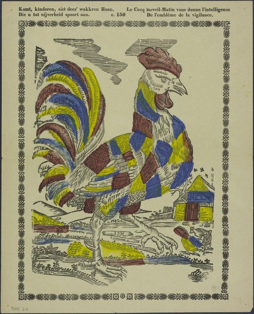 Komt kinderen, ziet deez' wakkren haan - Le cocq Reveil-Matin vous donne l' intelligence by Brepols + Dierckx 1833-1880