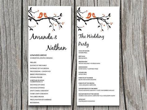 DIY Love Bird Heart Tree Branch Wedding Program Microsoft