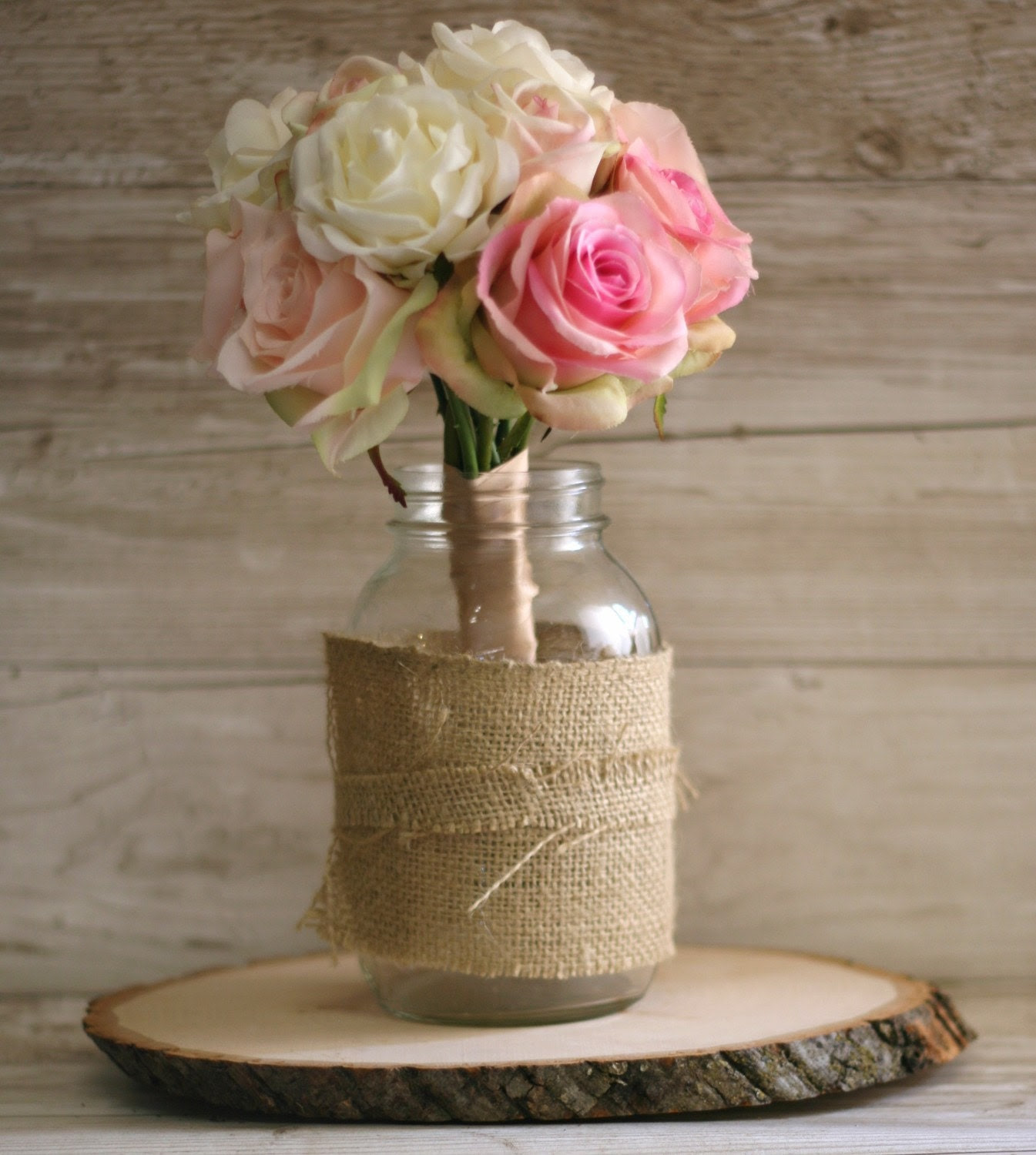 Rustic Tree Slice Engagement Bridal Shower Party Centerpiece Lazy Susan Decoration