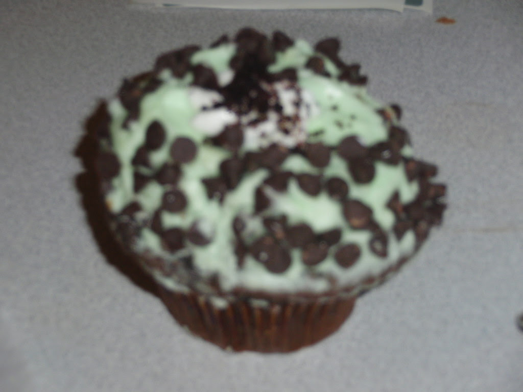 Grasshopper cupcake from Crumbs