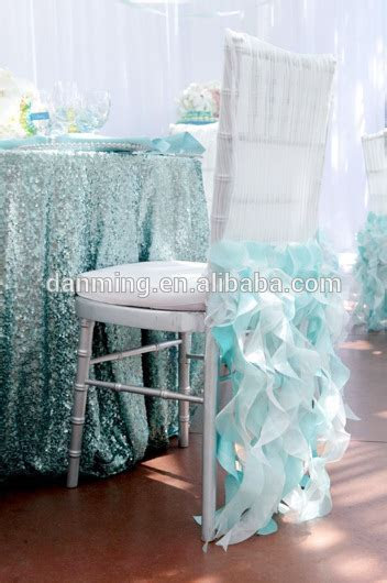 Factory Wholesale Top Quality Self tie Satin Chair Cover