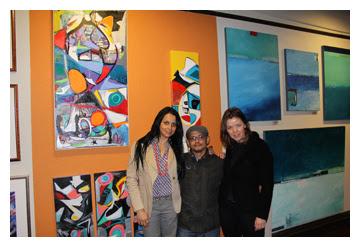 Danielle Molinski, Carly Ivan Garcia, and Agne Correll at Room Interior Art Gallery in San Rafael, CA : : Art Walk : January 14, 2011