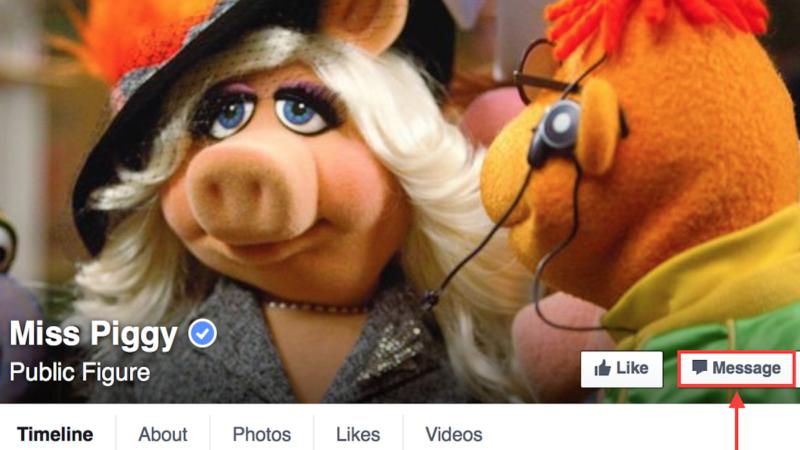 Miss Piggy's Facebook page