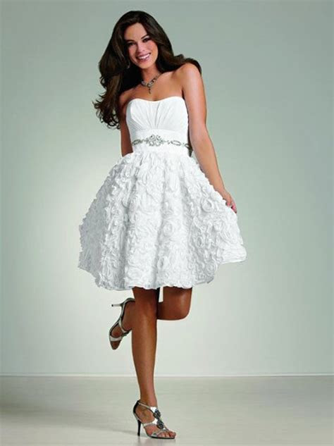 White short wedding dresses cheap   All women dresses