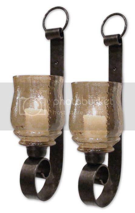 Tuscan s 2 Wall Mount Candle Holder Sconce 18