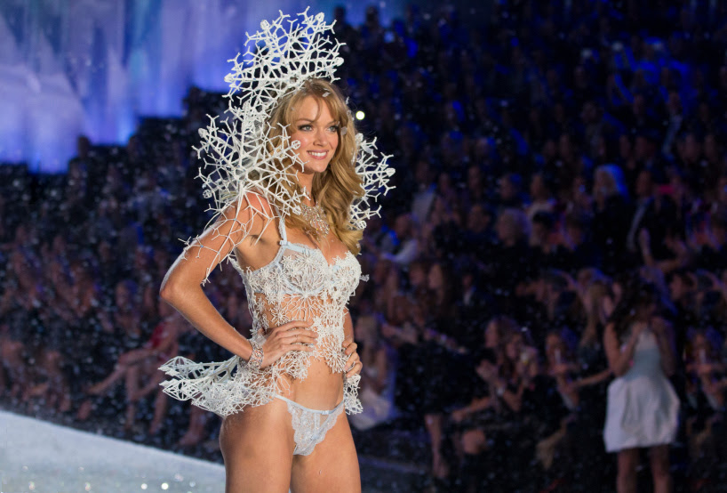 3D printed lingerie at the victoria's secret fashion show