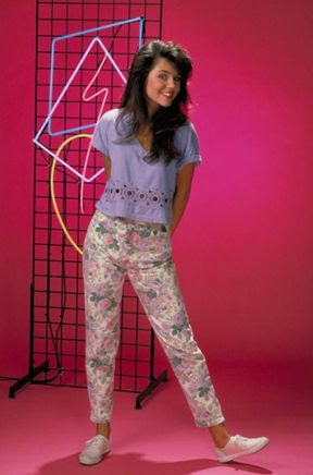 Floral jeans - saved by the bell