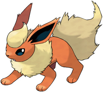 Flareon artwork by Ken Sugimori