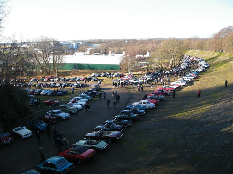 Brooklands New Year's Day 2013 - From the member's bridge