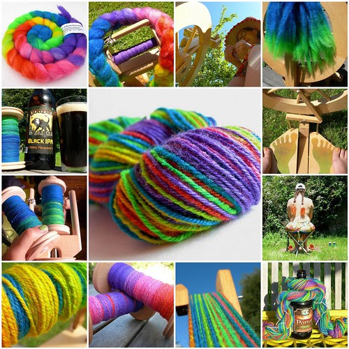 Tour de Rainbow yarn from COLORBOMB Creations