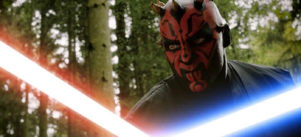 Darth Maul battles a group of Jedi Knights in the fan film DARTH MAUL: APPRENTICE.