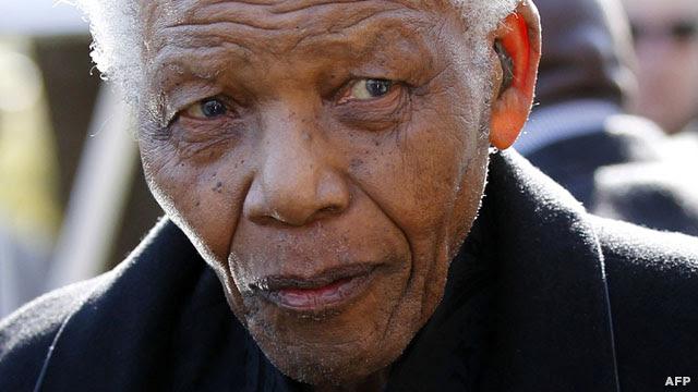 نلسون ماندلا در سال ۲۰۱۰