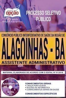 Apostila Processo Seletivo Público Consórcio Público de Saúde de Alagoinhas 2018 | ASSISTENTE ADMINISTRATIVO