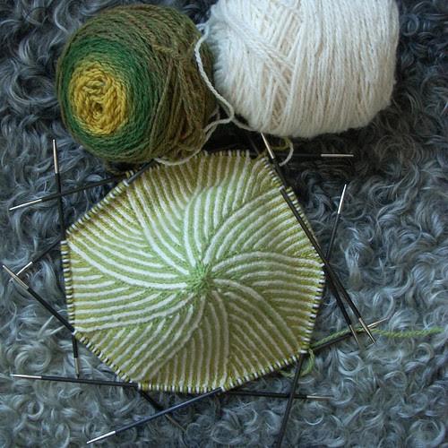 Twined hat in progress by Asplund