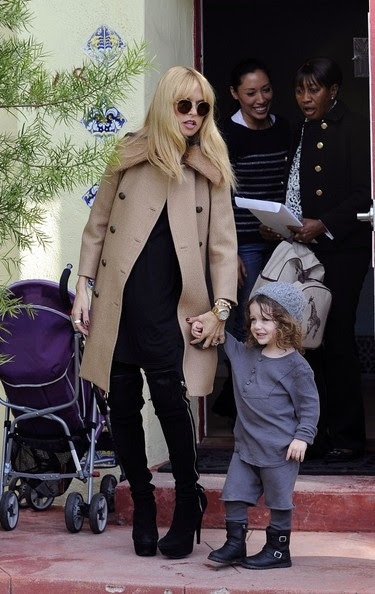 Rachel Zoe and her son, Skyler step out in West Hollywood.