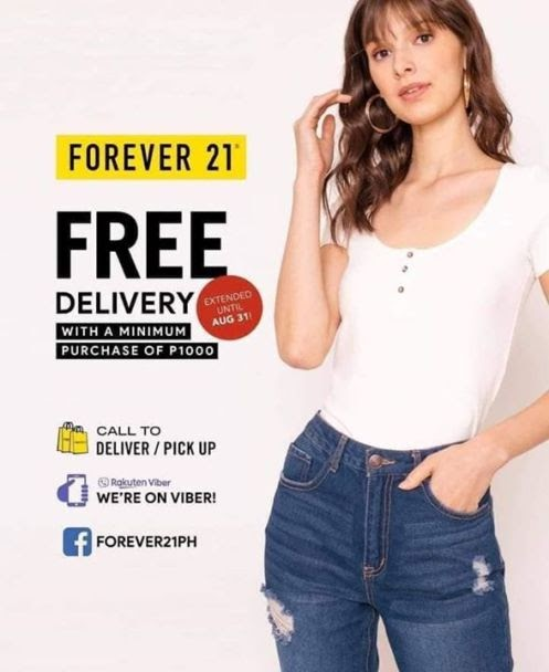 Don't miss Forever 21 Mall Of Asia EXTENDED FREE DELIVERY