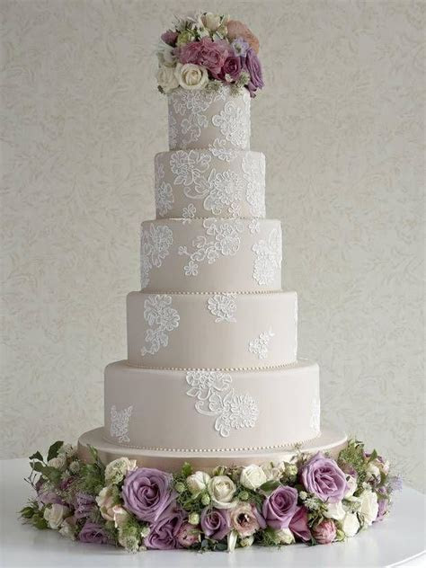 Wedding Cakes   Cord Lace Cake Lace Has Been In Fashion