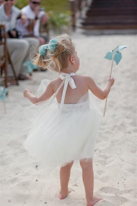 Destination Wedding   Beach Flower Girl Dress In Ivory