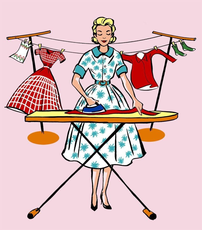 PRINT - Fashionista του 50 (σιδερώματος) ρούχων Εκτύπωση δωματίου