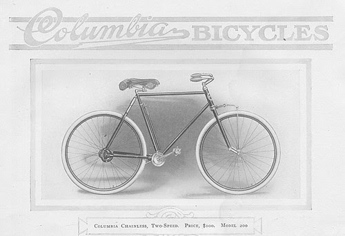 Columbia 1912 Two Speed Shaft Drive Bike
