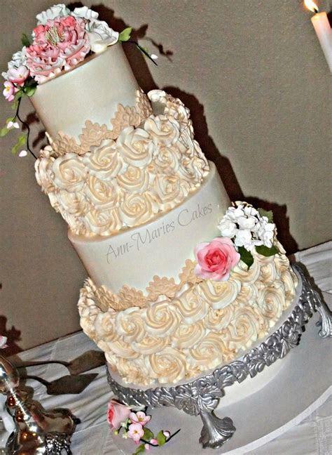 Wright Wedding Cake   CakeCentral.com