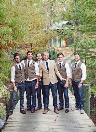 fall groomsmen attire ideas casual outdoor weddings